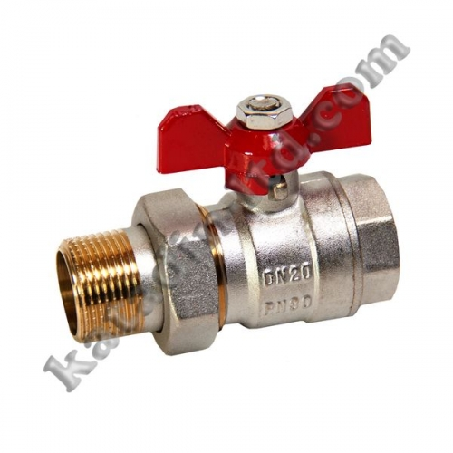 Ball valve with American