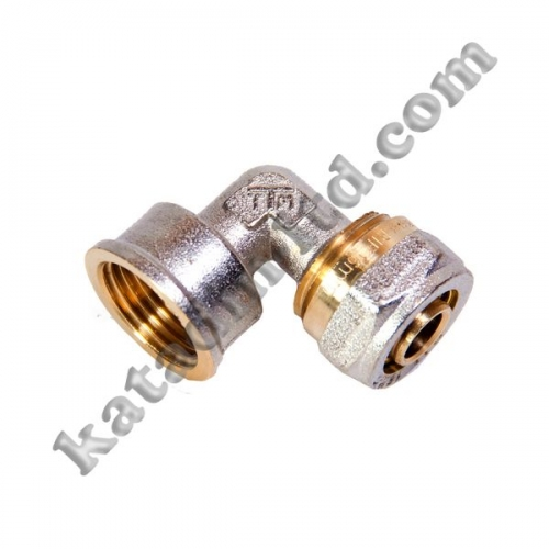 Angle coupling with internal thread